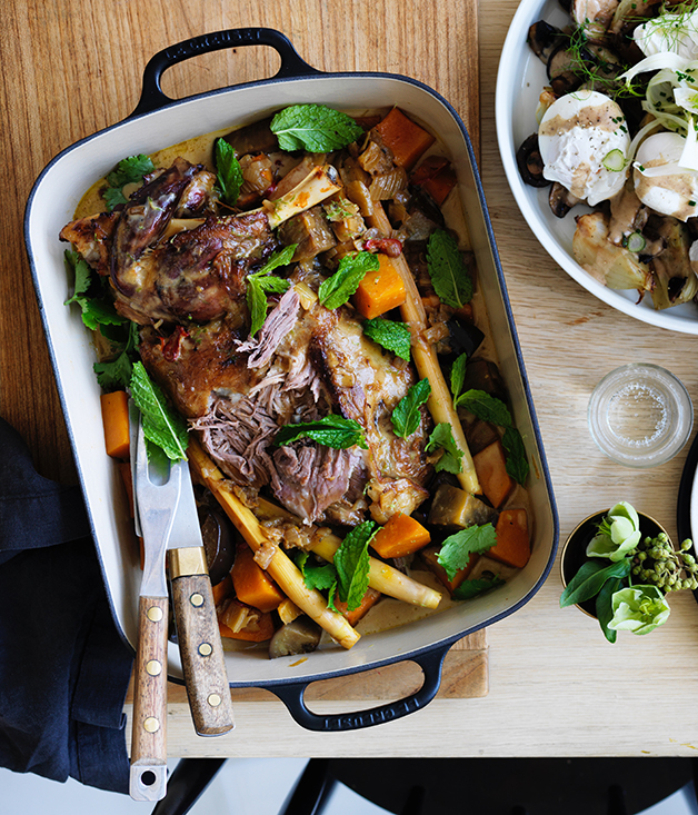 Grant Achatz's braised lamb shoulder with cocoa and cardamom