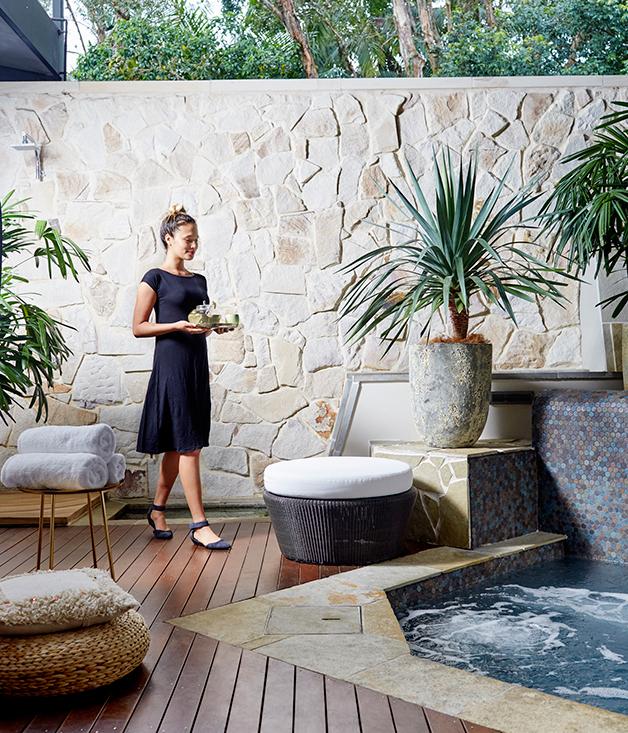 rainforest retreat at byron bay gourmet traveller. Black Bedroom Furniture Sets. Home Design Ideas