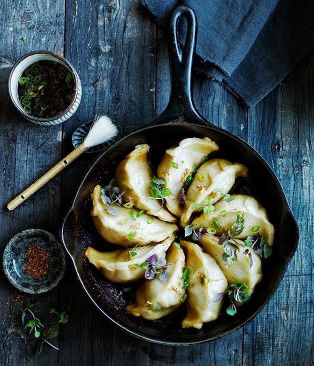 Pork and cabbage pot-stickers