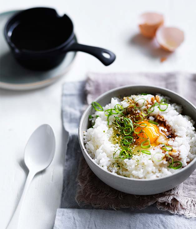 Egg and rice bowls