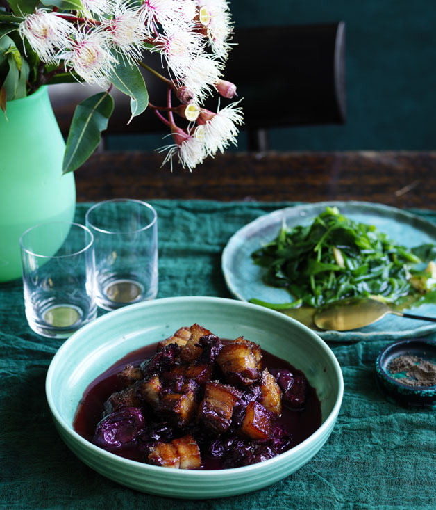 Sweet and sour pork with Davidson's plum