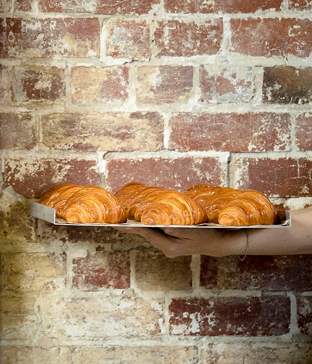 Freshly baked croissants from Lune