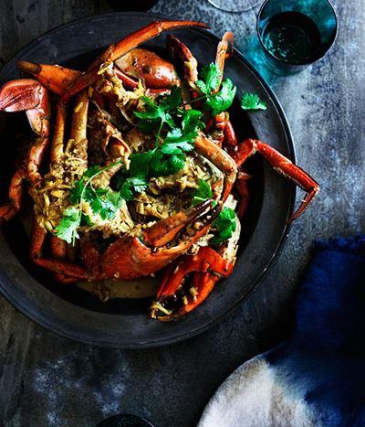 Coconut crab cooking