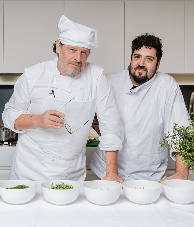 Chefs Marco Pierre White (left) and Duncan Welgemoed at the Flavours of Home launch in Sydney