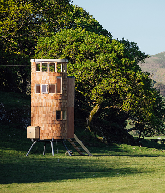 Welsh cabins inspired by myths and legends