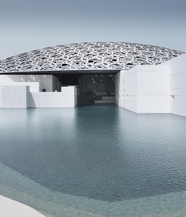 The 180-metre dome of the Louvre Abu Dhabi