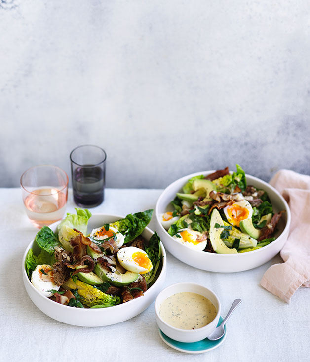 Bacon, egg and avocado salad