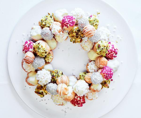 Profiterole Wreath Recipe By Lauren Eldridge Gourmet Traveller