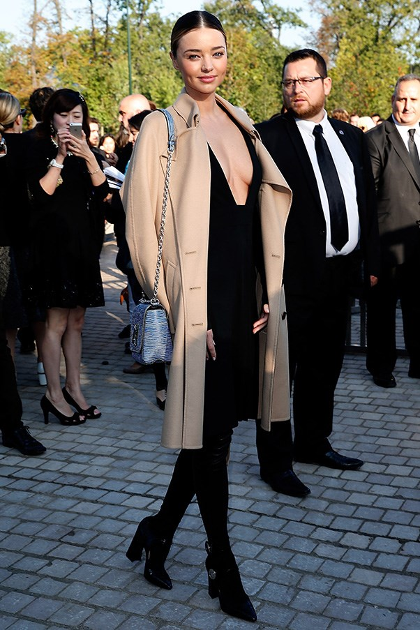 At the Louis Vuitton show during Paris fashion week on October 1.