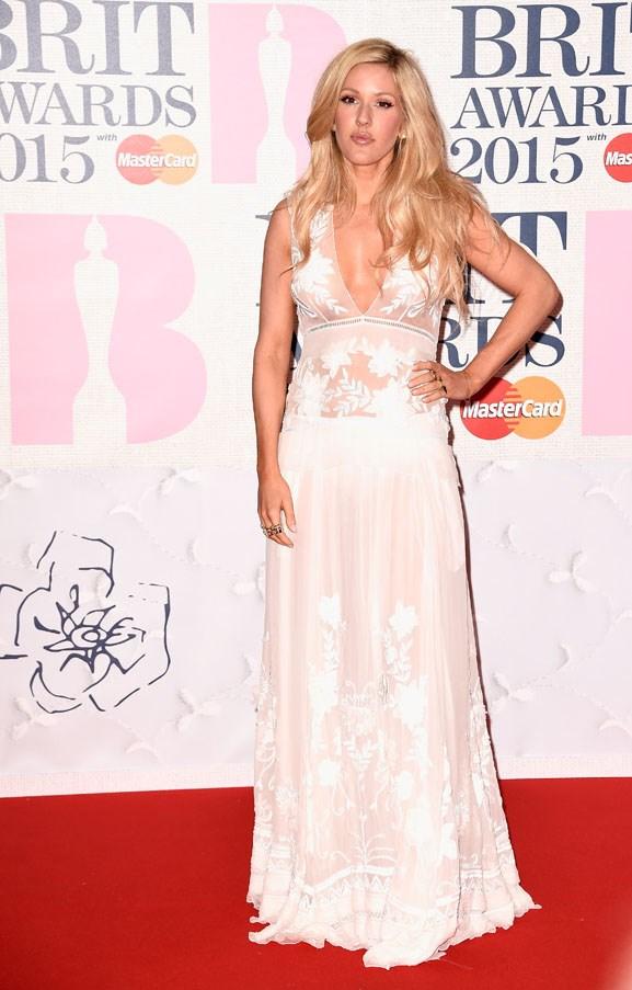 Ellie Goulding rocked a super-sheer dress.