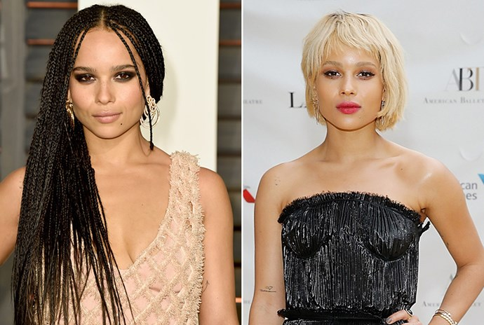 <strong>Zoe Kravitz</strong> <br>Rocker offspring and actress Zoe Kravitz continued her reign as one of our favourite edgy it-girls with this phenomenal new hair colour.