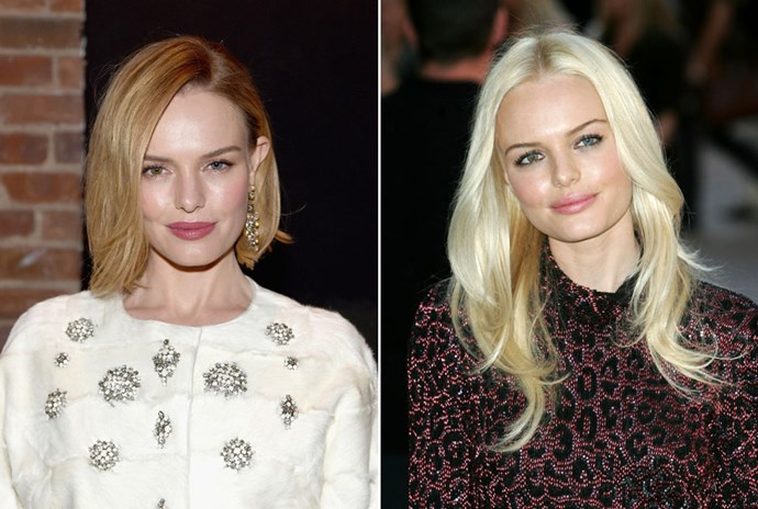 <strong>Kate Bosworth</strong> <br>Kate Bosworth shakes up her look without having to change her style. Proving that if you're reluctant to shed some length but want to try platinum, you can still stay away from the scissors.