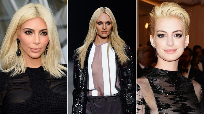 Kim Kardashian and Jared Leto just made the dramatic switch to platinum blonde in the same day. Now, we're seeing what all the hype is about. Here are our favourite platinum looks outside Paris Fashion Week and beyond.