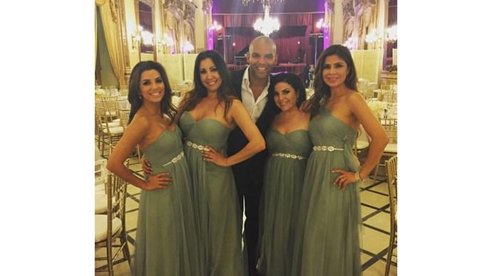 <strong>Eva Longoria</strong> <br><br> Eva looked dazzling in mint for her best friend's wedding in Spain.