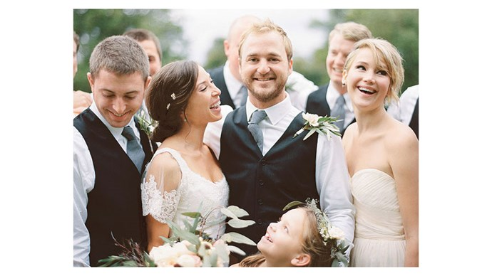 <strong>Jennifer Lawrence</strong> <br><br>Jen had a proud sister moment at her brother Baline's nuptials.