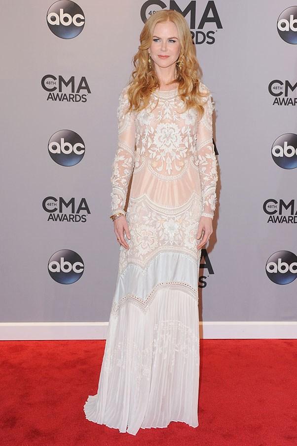 <strong>BALENCIAGA</strong><BR><BR> Nicole Kidman at the Country Music Awards