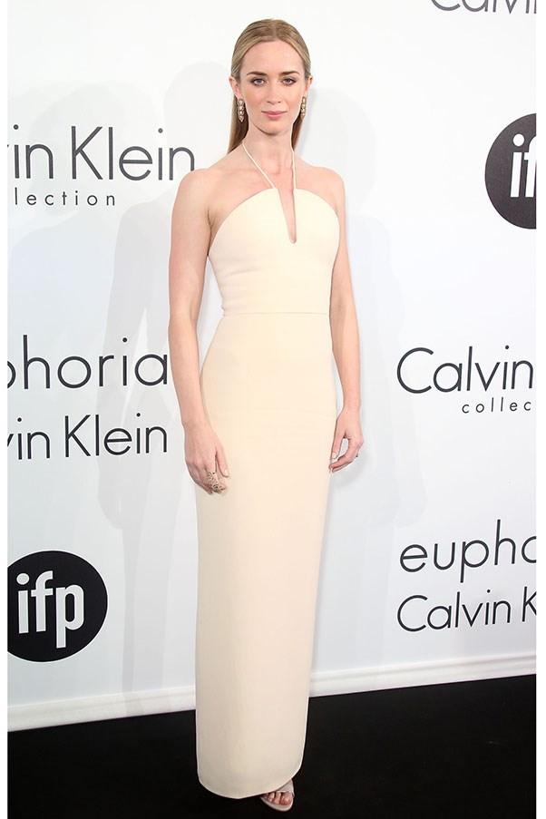 <strong>CALVIN KLEIN</strong><BR><BR> Emily Blunt at the Cannes Calvin Klein party