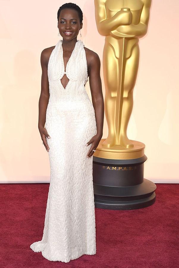 <strong>CALVIN KLEIN</strong><BR><BR> Lupita Nyong'o at the Academy Awards