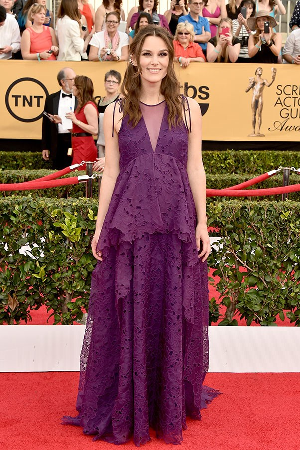 <strong>ERDEM</strong><BR><BR> Keira Knightley at the Screen Actors Guild Awards