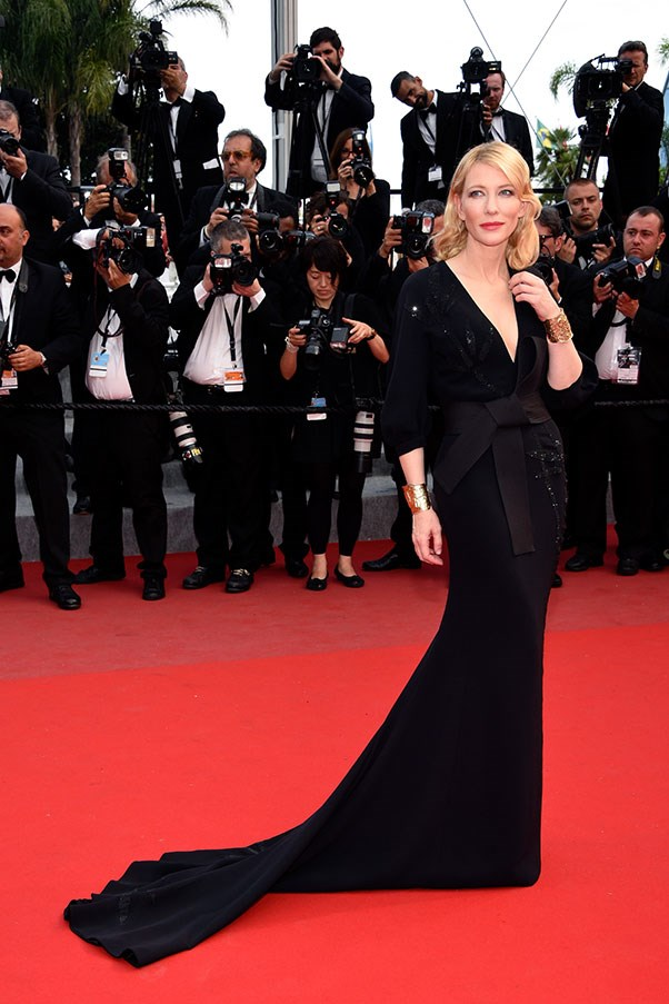 <strong>GIORGIO ARMANI</strong><BR><BR> Cate Blanchett at Cannes
