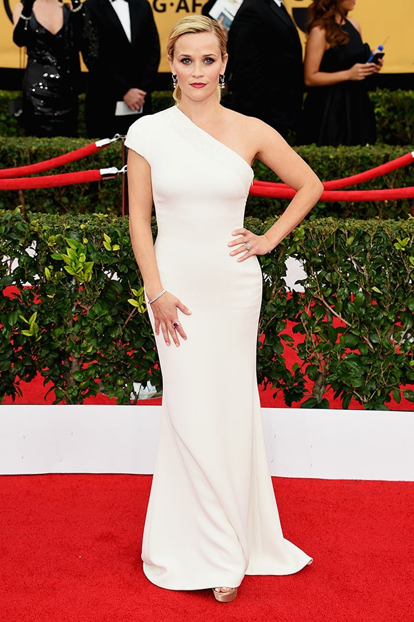 <strong>GIORGIO ARMANI</strong><BR><BR> Reese Witherspoon at the Screen Actors Guild Awards