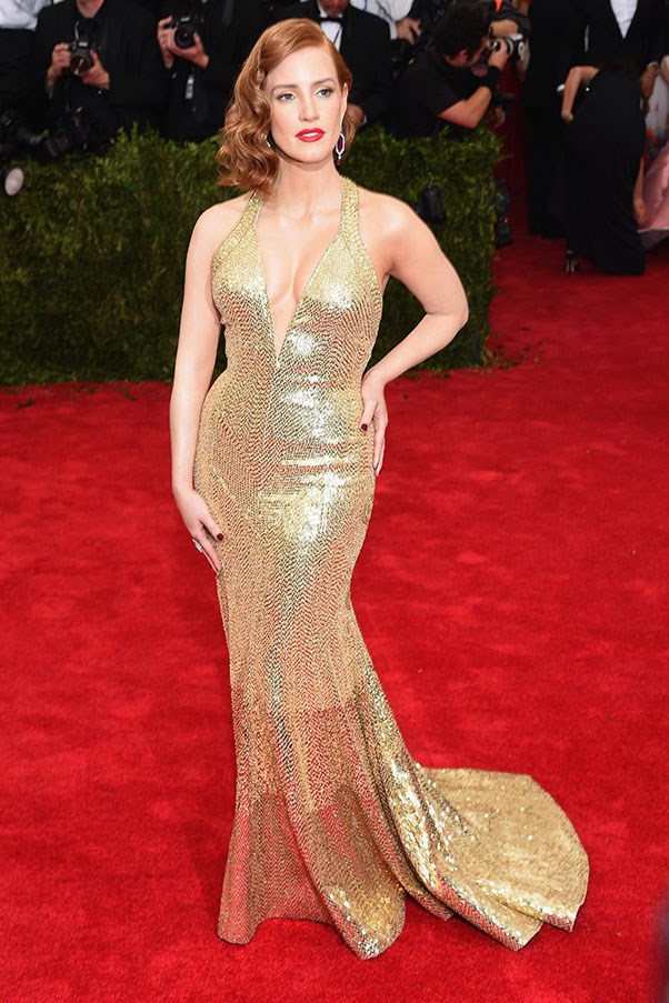 <strong>GIVENCHY</strong><BR><BR> Jessica Chastain at the Met Gala