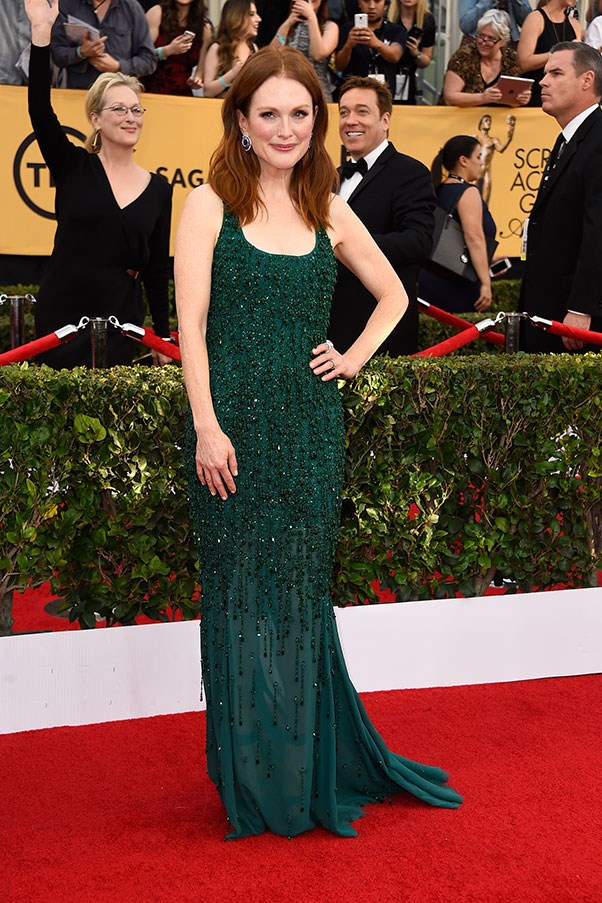 <strong>GIVENCHY</strong><BR><BR> Julianne Moore at the Screen Actors Guild Awards