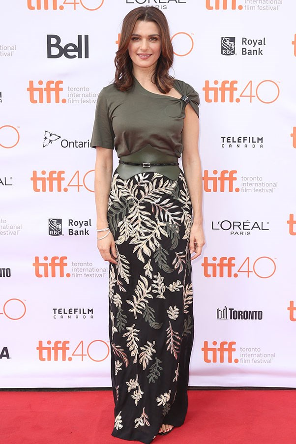 <strong>LOUIS VUITTON</strong><BR><BR> Rachel Weisz at the Toronto film festival