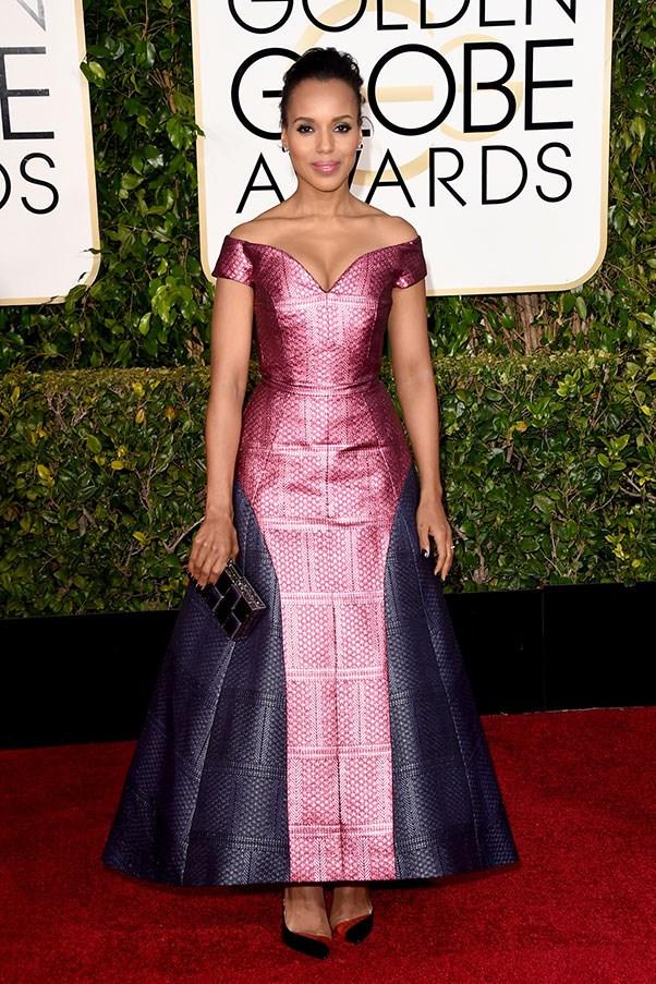 <strong>MARY KATRANTZOU</strong><BR><BR> Kerry Washington at the Golden Globes
