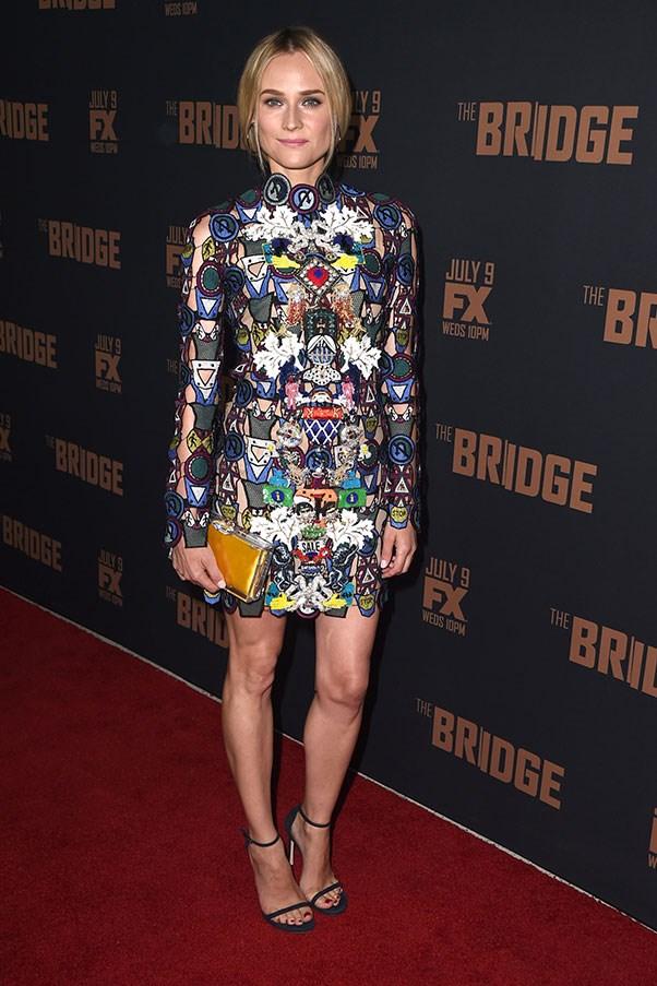 <strong>MARY KATRANTZOU</strong><BR><BR> Diane Kruger at <em>The Bridge</em> premiere