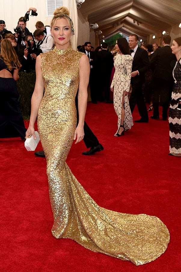 <strong>MICHAEL KORS</strong><BR><BR> Kate Hudson at the Met Gala
