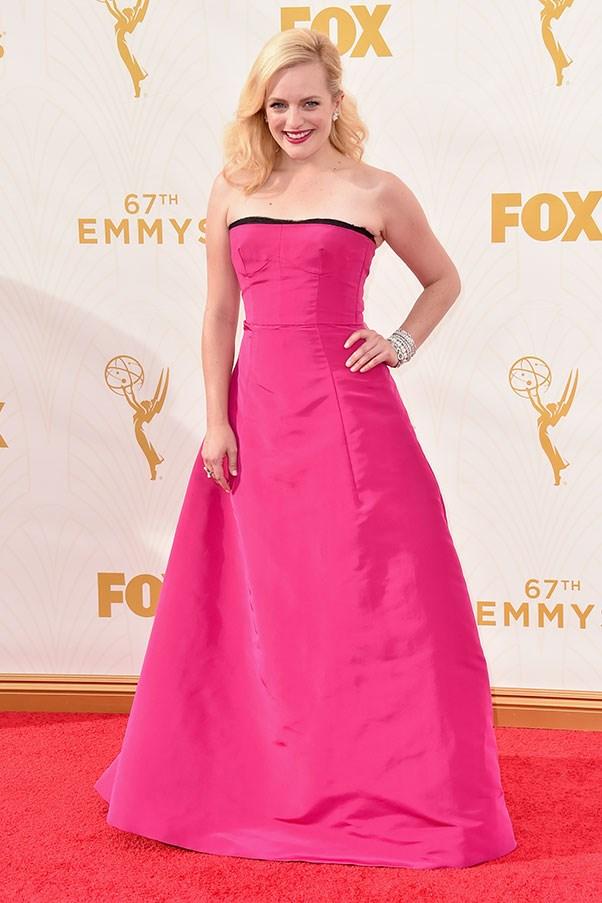 <strong>OSCAR DE LA RENTA</strong><BR><BR> Elizabeth Moss at the Emmys