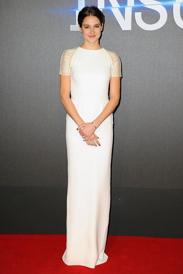 <strong>RALPH LAUREN</strong><BR><BR> Shailene Woodley at the <em>Insurgent</em> premiere