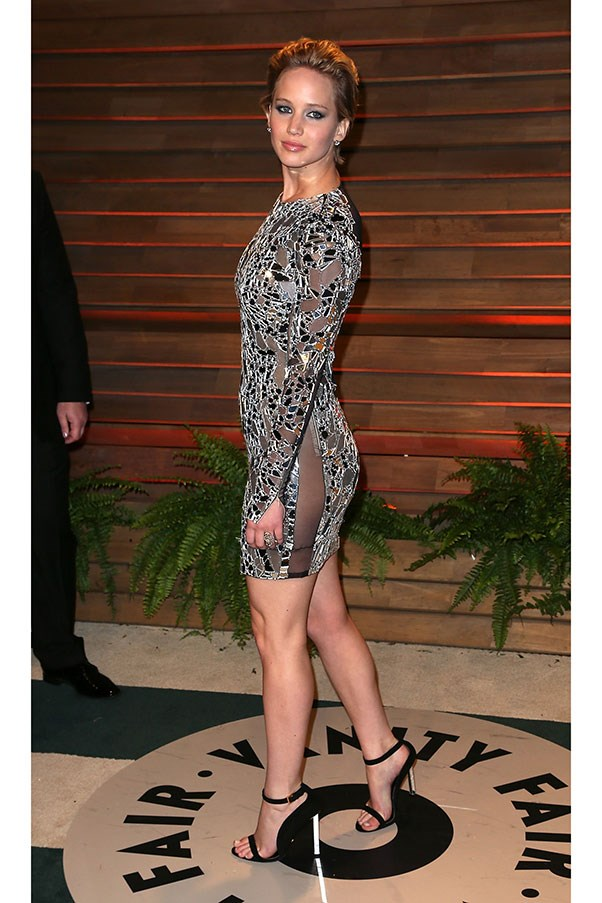 <strong>TOM FORD</strong><BR><BR> Jennifer Lawrence at the Vanity Fair Oscar Party