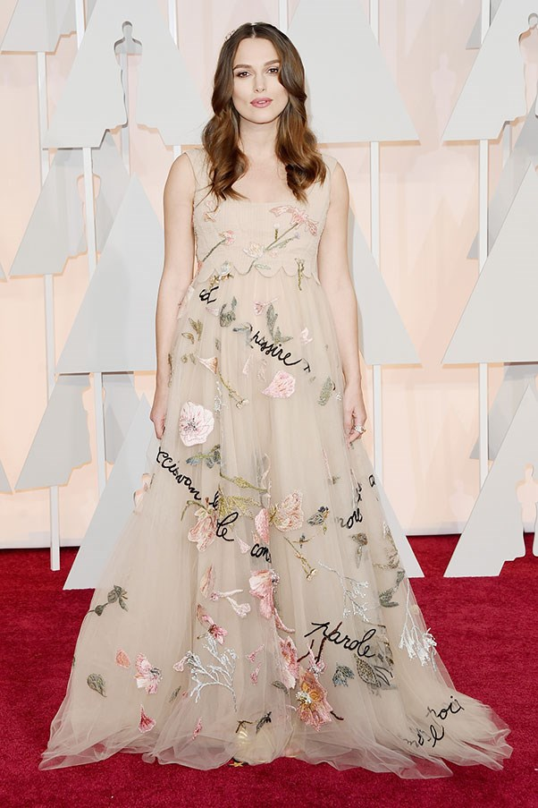 <strong>VALENTINO</strong><BR><BR> Keira Knightley at the Academy Awards