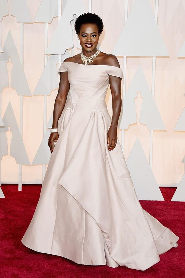 <strong>ZAC POSEN</strong><BR><BR> Viola Davis at the Academy Awards