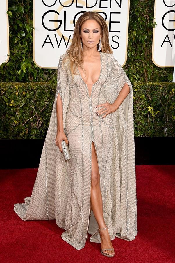 <strong>ZUHAIR MURAD</strong><BR><BR> Jennifer Lopez at the Golden Globes