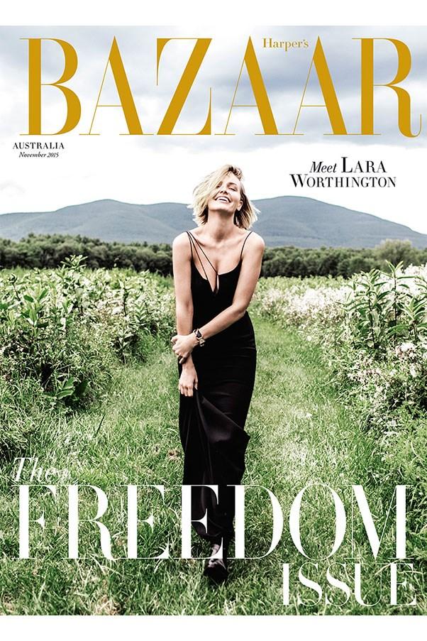 Meet Mrs Worthington. Lara Worthington is the cover star of the <em>Harper's BAZAAR </em>November issue, out Monday.