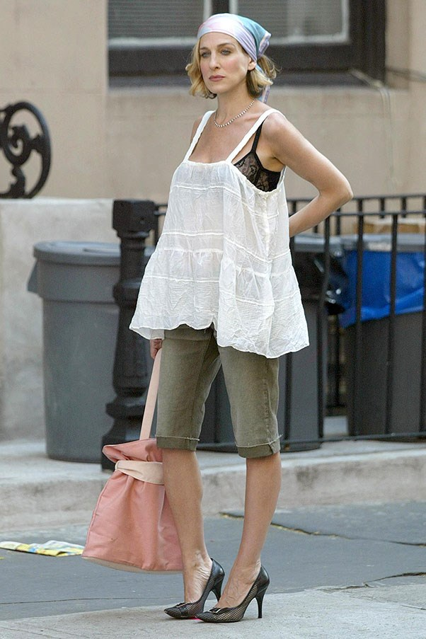 Sarah Jessica Parker, 2002 (while still filming season five of <em>Sex and the City</em>, hence why you recognise this outfit).
