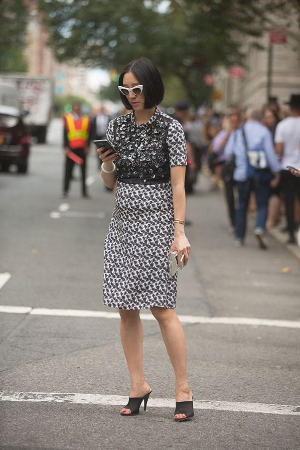 Eva Chen, 2014 (at New York fashion week).