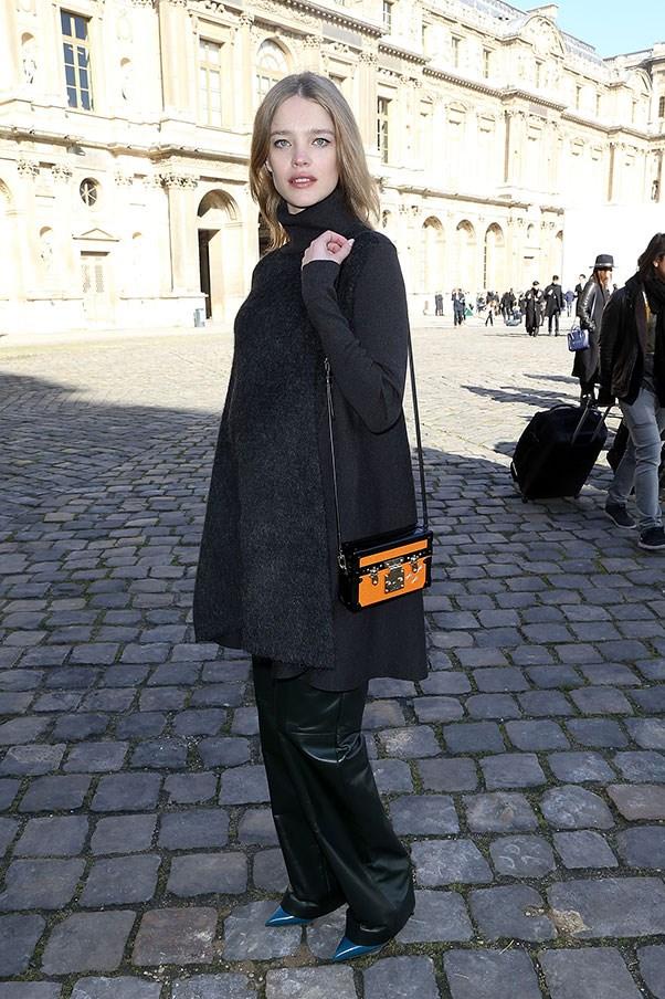 Natalia Vodianova, 2014 (outside Louis Vuitton A/W 14-15).