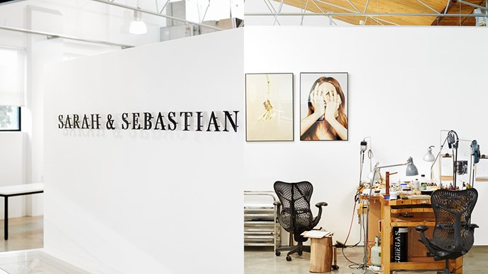 Inside the inspiring working and retail space of Sydney-based jewellery label Sarah & Sebastian.