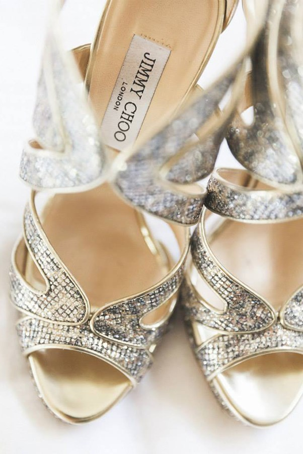 <strong>On the accessories:</strong> <br><br> My dream wedding shoes were very special to me, as my beautiful bridesmaids had contributed to them. My Mum had also given me a locket the morning of the wedding that enclosed a picture of my late Nan that we secured to the stem of my bouquet.