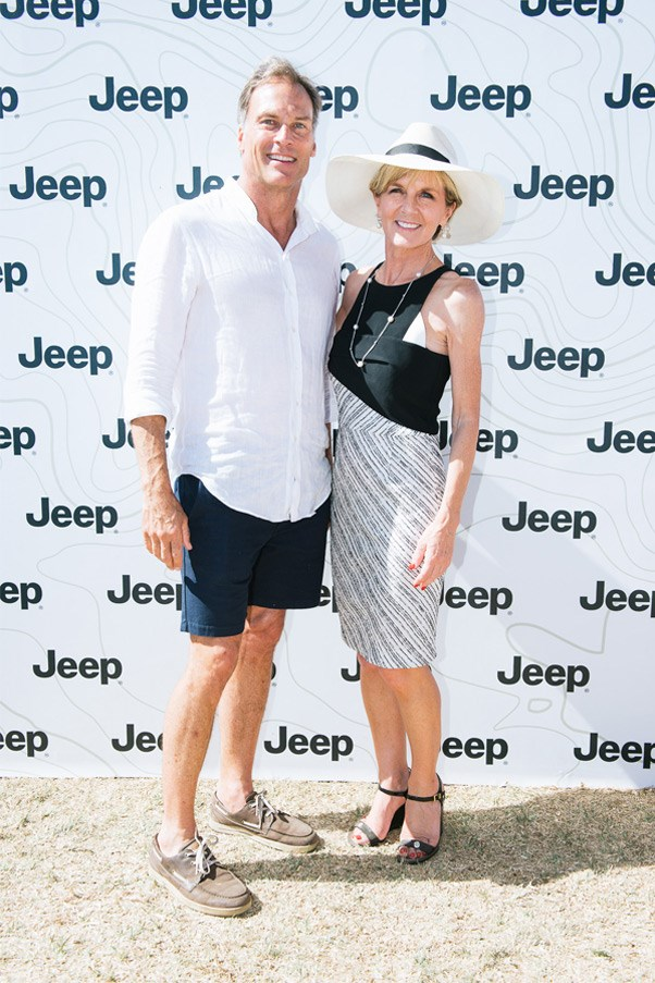 <strong>Dave Panton and Julie Bishop</strong>