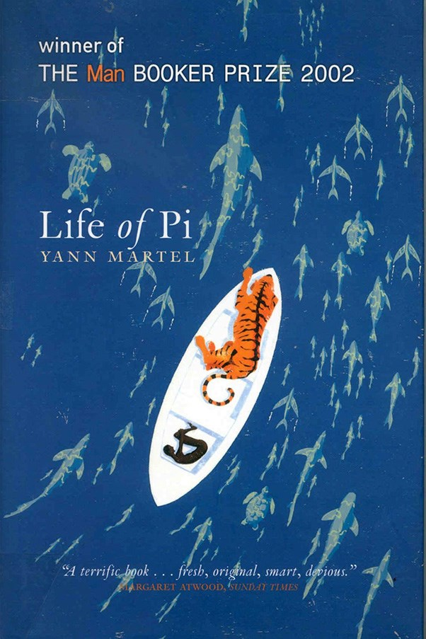 <strong>Life of Pi by Yann Martel</strong><br><br> A young boy is stranded on a lifeboat in the middle of the ocean, with only a deadly, giant Bengal tiger as company. Sound implausible? Don't worry; it will all make sense by the end.