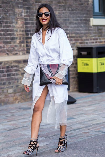 Unusual shirting looks (and feels) crisp on a warm day.