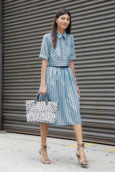 Think of the matching top/skirt combo as summer's answer to the power suit. Except far more flattering.