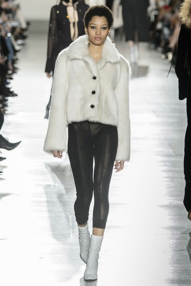 <strong>Topshop Unique</strong> <br><br> Outerwear was the star of the show, with fur bombers taking the lead, which is not to undercut the Charlotte Rampling inspired dusters.