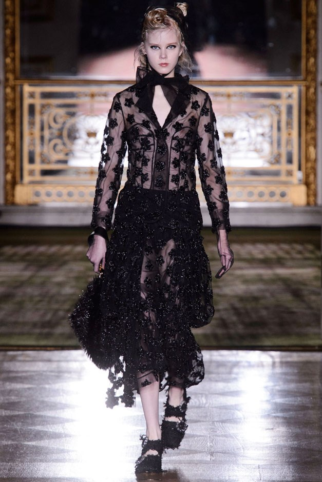 <strong>Simone Rocha</strong> <br><br> Rocha's fall show was presented at the opulent Lancaster House, an apt spot for a designer who keeps a keen eye on British royalty. This season referenced Victorians, both literally and stylistically, bringing in the sensual restraint that comes with the territory.
