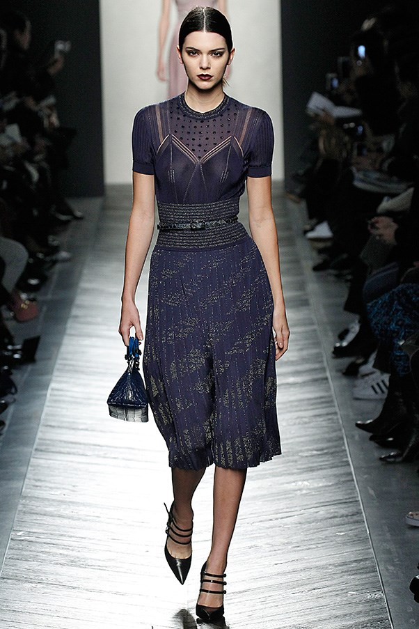 <strong>BOTTEGA VENETA</strong> <BR><BR> His final set of dresses were a study in the charm of simplicity—a group of belted pleated knits with a built-in bra and a belted waist. It's an age-old hourglass silhouette that Maier cannily relaxed, allowing the knit to weigh the skirt down a bit, creating a longer, leaner line that was ultra flattering and uber sexy.